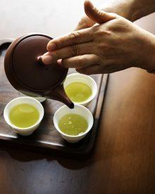 Chá verde para a saúde da boca
