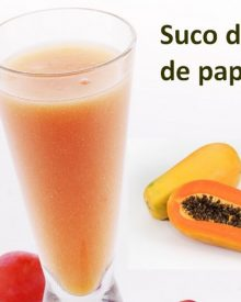 suco detox de papaia
