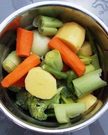 verduras cozidas